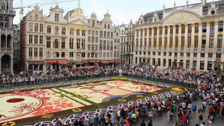 ブリュッセルのフラワーカーペット2018!2年に一度の花の祭典