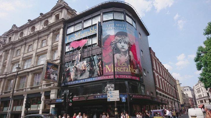 ロンドンのTKTSでミュージカルの格安当日券を購入&レミゼ鑑賞