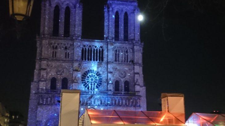 パリ・ノートルダム大聖堂の光の祭典「Dame de Coeur」